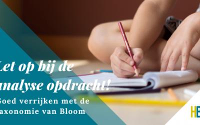 Taxonomie van Bloom: Let op bij de analyse opdracht