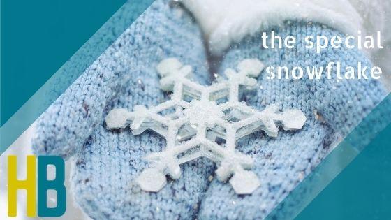 Het speciale sneeuwvlokje